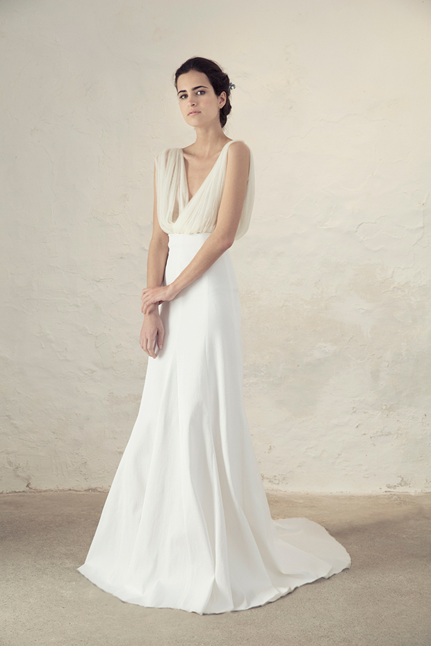 Cortana bridal collection for boho and modern brides for Plain white wedding dress