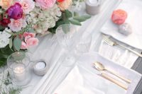 09 Peonies and rocks are a great idea for place cards
