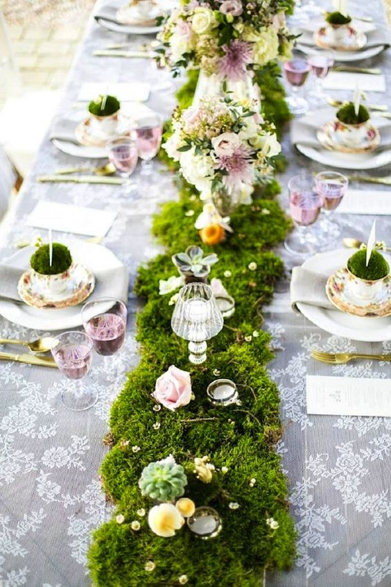 29 budget friendly moss wedding d cor ideas weddingomania for Green spring gardens wedding