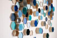 10 colorful hexagon box wedding backdrop