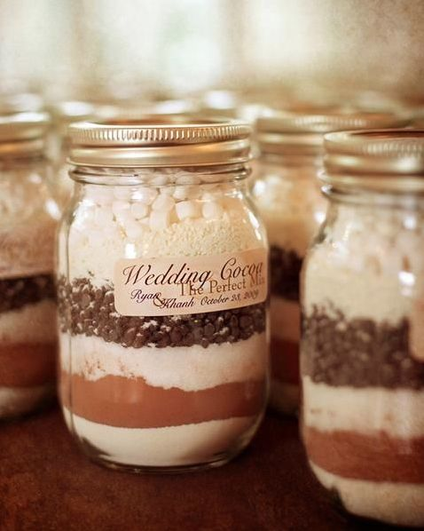 hot cocoa with marshmallows in a jar is perfect for any cold season