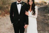 10 lace wedding dress with a V neckline for a boho-inspired bride