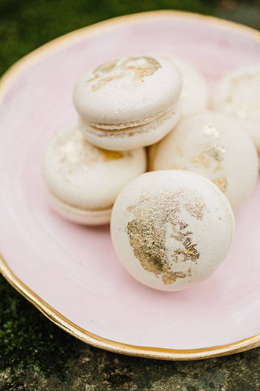 Beauty is in details like these gilded macarons
