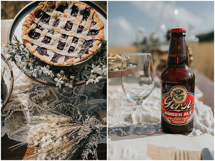 Beer and home pies are right what you need for a relaxed homey wedding