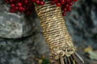 14 decorate your bouquet wrap with cranberries