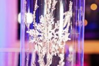 14 frost decor and snowflakes for a winter wonderland wedding reception