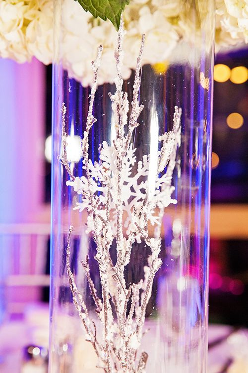 Frost Decor And Snowflakes For A Winter Wonderland Wedding Reception