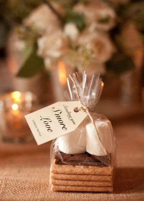 s'mores wedding favors is winter classics that everybody would love