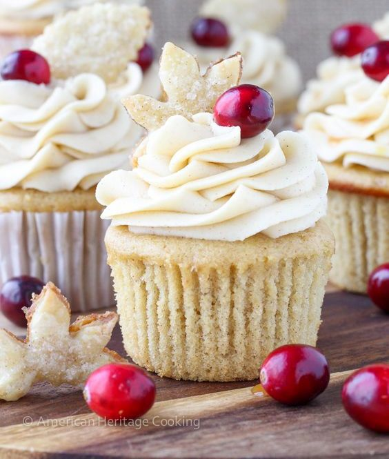 Picture Of cranberry cupcakes for a winter wedding