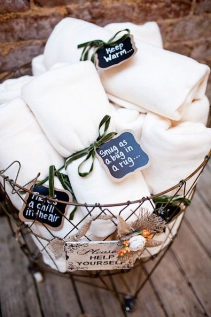 prevent your guests from catching a cold and give them useful favors
