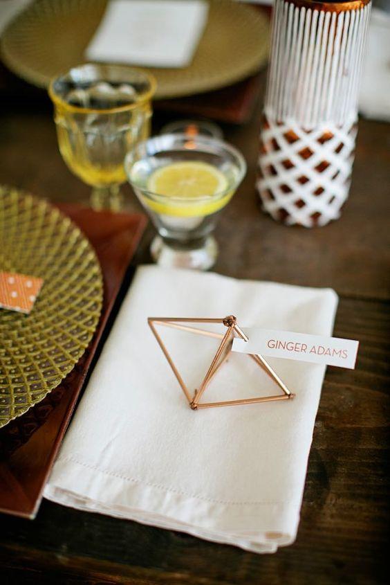 35 Trendy Geometric Wedding Décor Ideas - Weddingomania