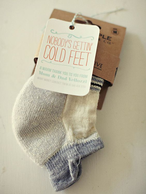 woolen socks to feel warm and cozy are a fun idea