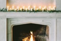 25 decorate the fireplace mantles with candles and baby's breath to use it as an altar