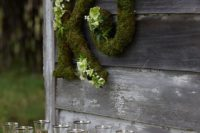 26 moss letters are an easy and budget-friendly decoration