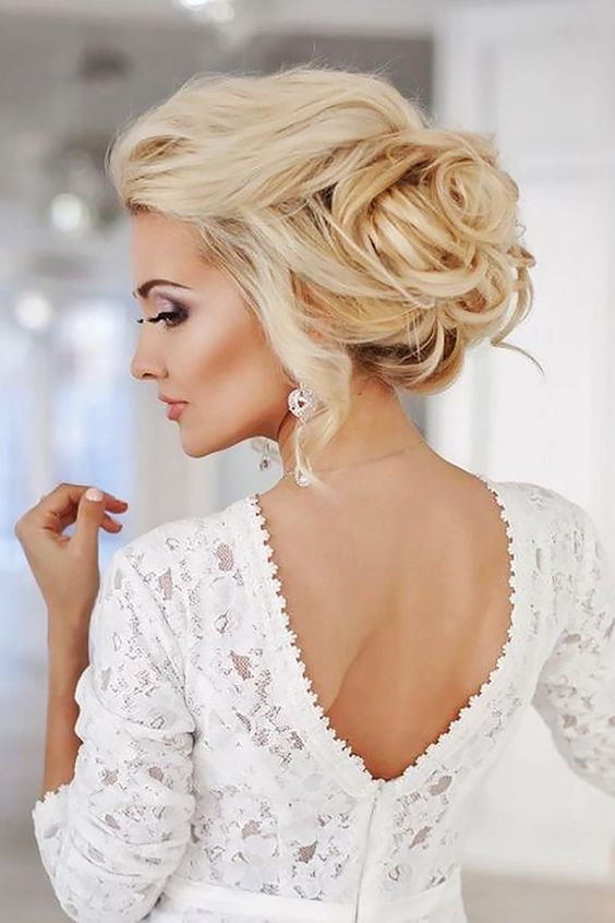 messy updos match almost any wedding style