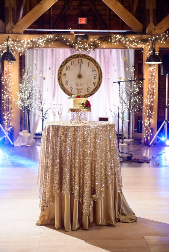 large clock for a wedding backdrop