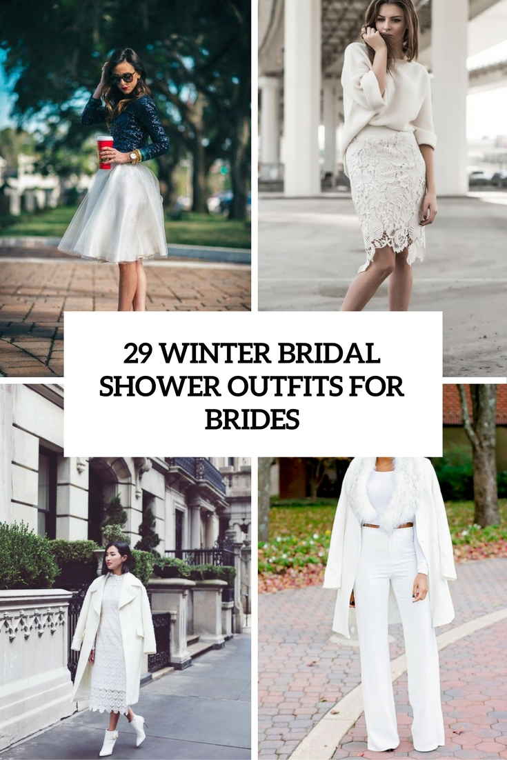 29 Winter Bridal Shower Outfits For Brides