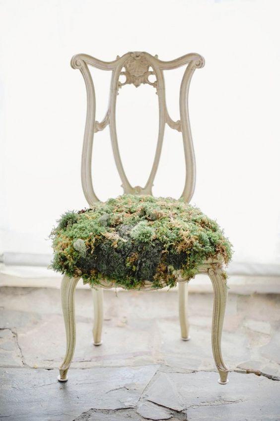 whimsical moss chair cushion