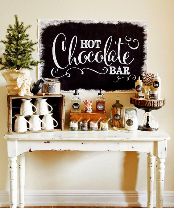 hot chocolate bar for your guests