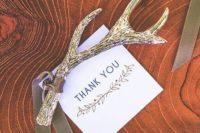 34 antler bottle opener as a woodland wedding favor