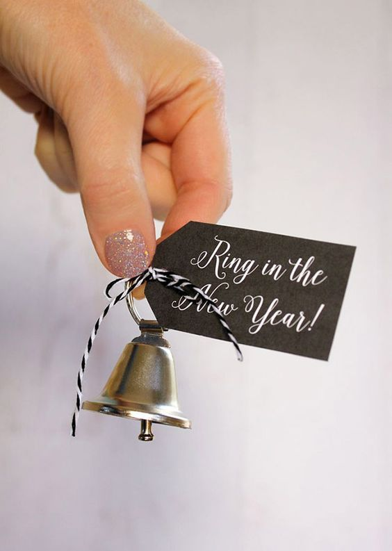 bells with printable tags as favors