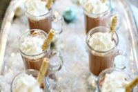 34 hot cocoa with marshmallows is a great idea for a wedding bar