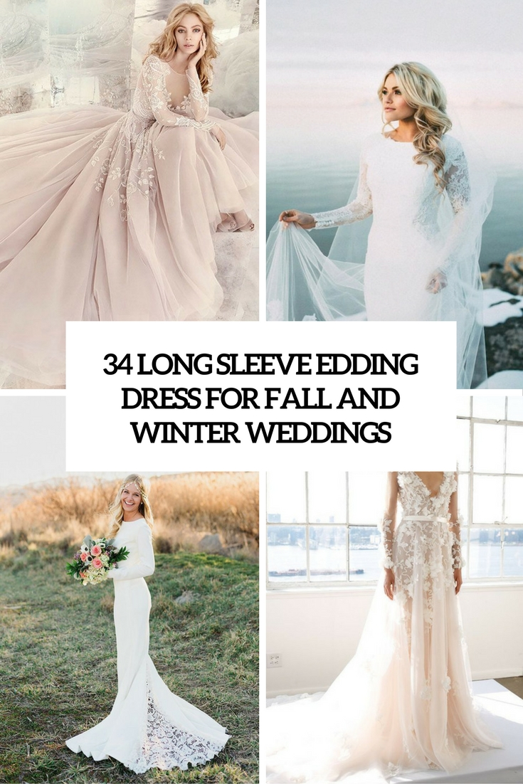long sleeve wedding dresses for fall and winter weddings cover