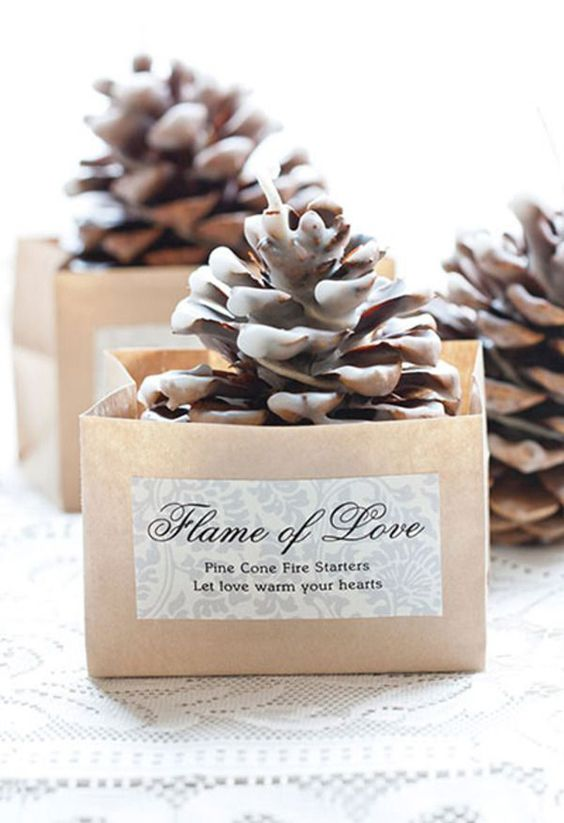 put your fire starters into pretty boxes with wishes