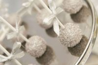35 silver cake pops are perfect for your wonderland sweets bar or favors