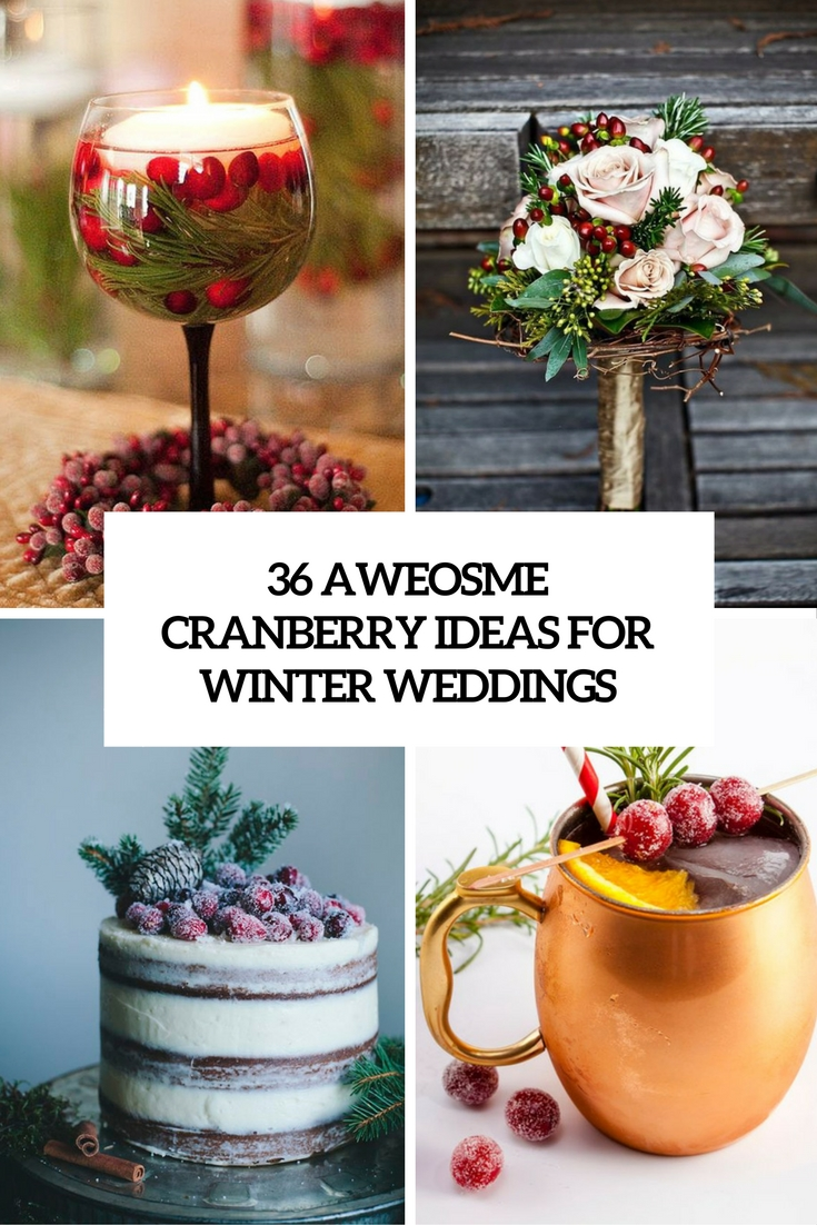 awesome cranberry ideas for winter weddings cover