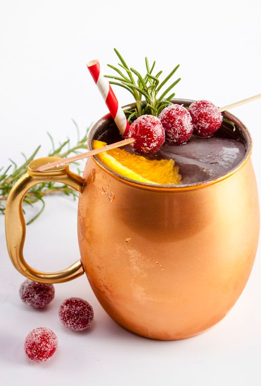 hot chocolate with orange and cranberries