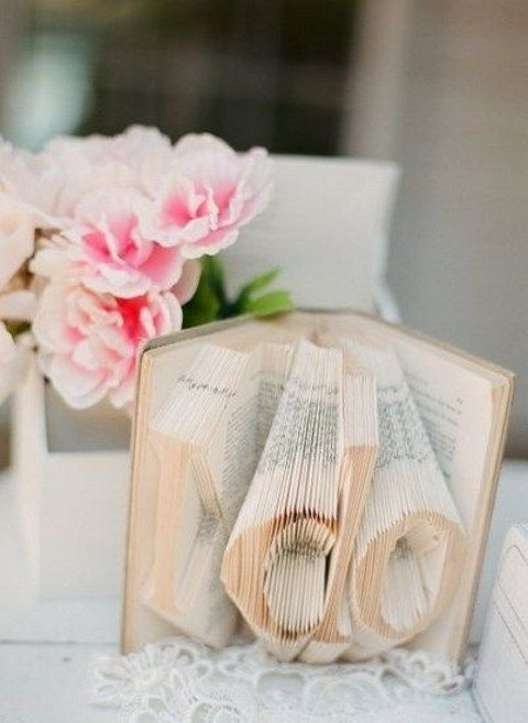 voluminous 'I do' decor on a book