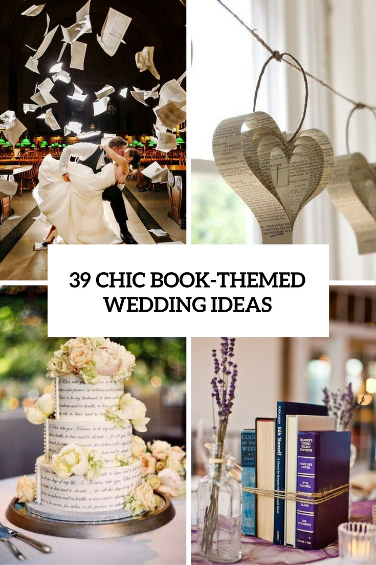 chic book themed wedding ideas cover