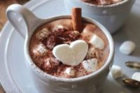 39 chocolate with marshmallows and cinnamon