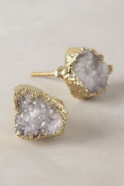 geode studs for the bride or bridesmaids