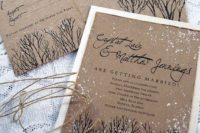 42 snowy winter wedding stationery