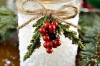 44 faux snow wedding decoration