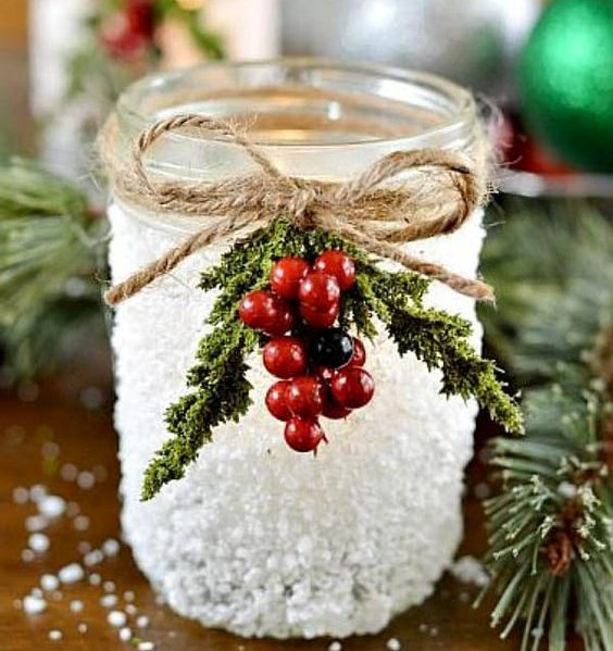 faux snow wedding decoration