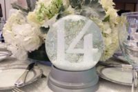 45 a snow globe will be a great centerpiece