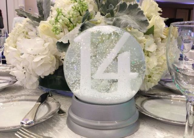 a snow globe will be a great centerpiece