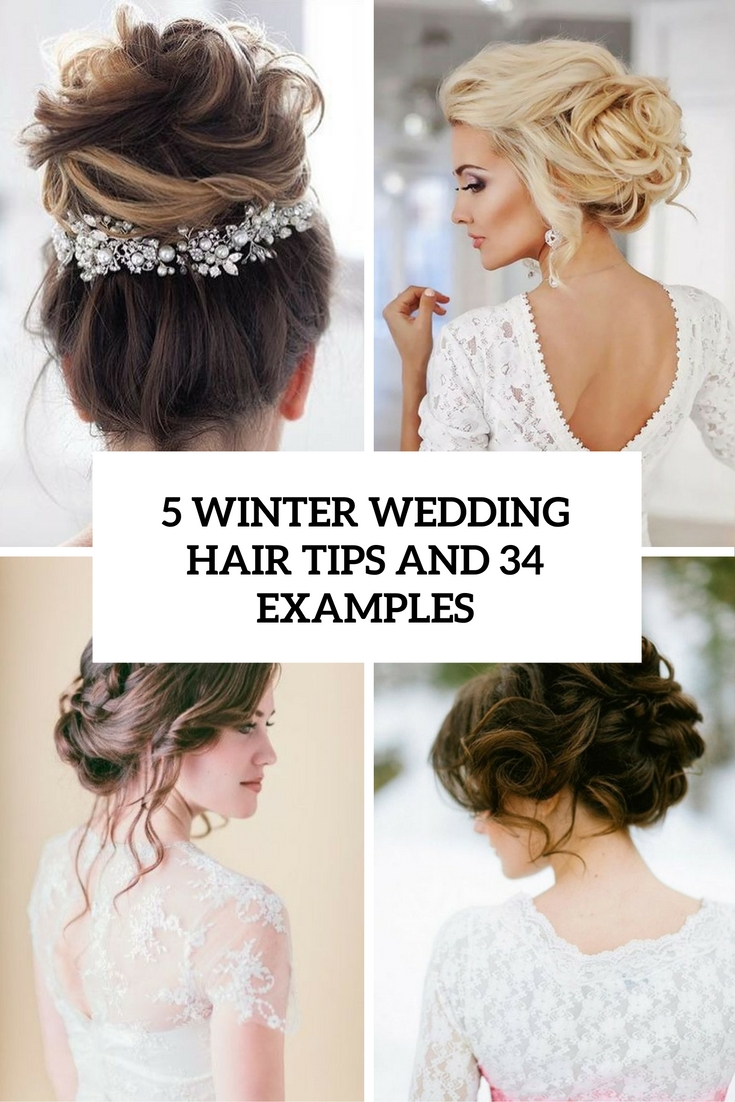 5 winter wedding hair tips and 34 examples cover