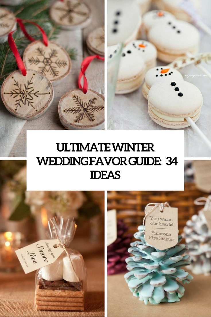 Ultimate Winter Wedding Favor Guide 34 Ideas Cover
