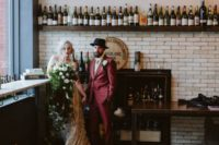 01 Alyssa and Giuseppe married at Bar Marco and it was an edgy vintage industrial wedding