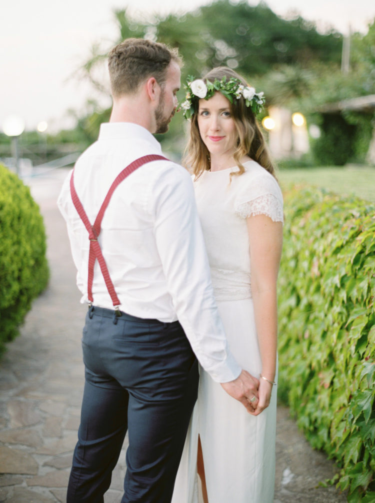 Organic Capri Wedding In Green And White