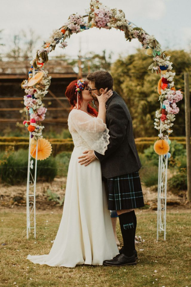 Colorful Pompom Wedding With A Party All Night Long