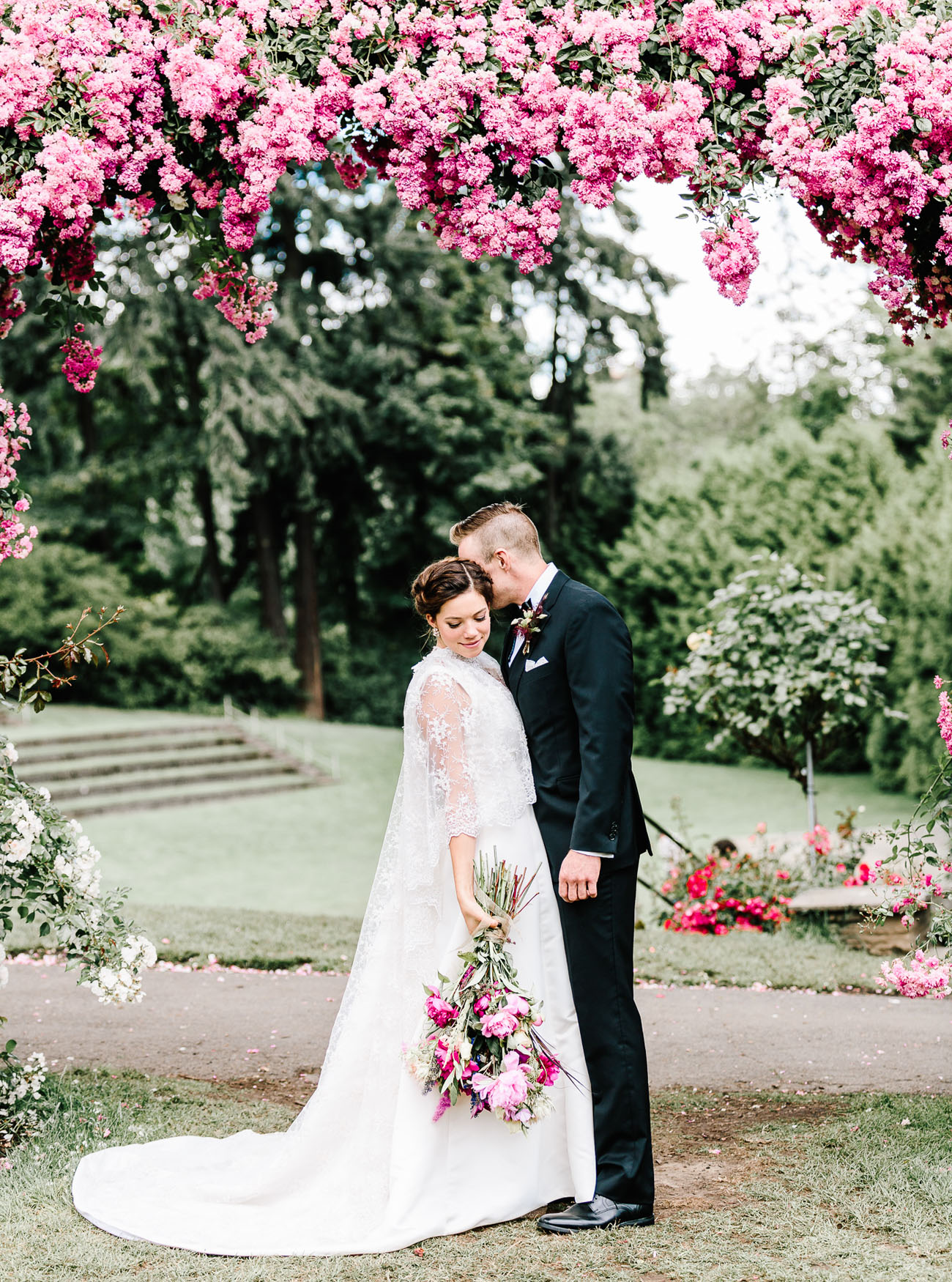 This lush floral wedding took place in Oregon, and the guests came from all over the country
