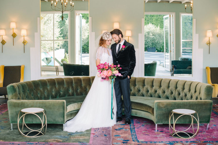 Modern Bright Wedding Shoot With Geo Touches