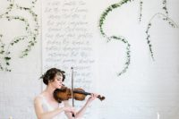01 This wedding shoot is inspired by music, and the bride is a real musician