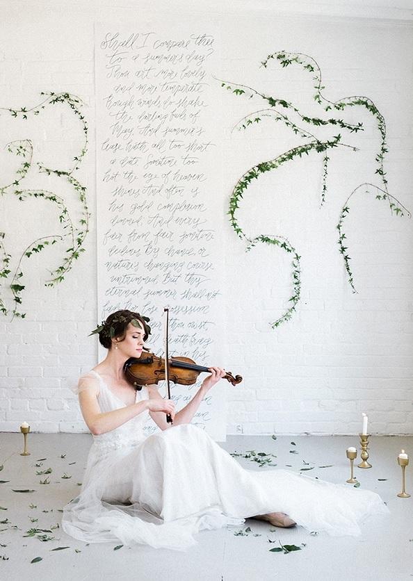 Refined Music Inspired Wedding Shoot