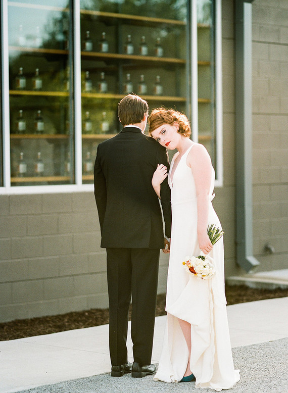 The wedding shoot was rather minimalist, chic and edgy